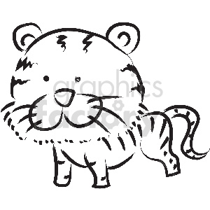 black and white tattoo tiger vector clipart clipart. Commercial use image # 413369
