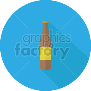 beer bottle vector clipart