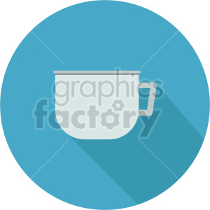 coffe cup on blue circle background vector