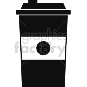 coffe cup silhouette no background vector clipart. Commercial use image # 413421