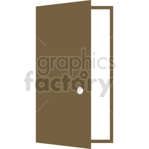 open door vector clipart 3 clipart. Commercial use image # 413481
