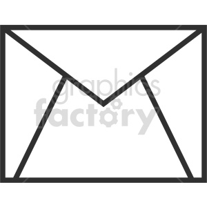 envelope outline vector clipart