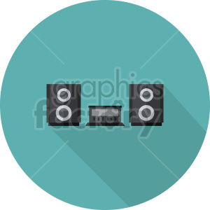 stereo vector icon graphic clipart 3 clipart. Commercial use image # 413572