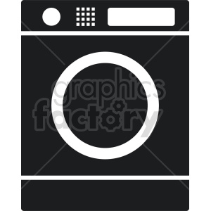 washing machine vector icon graphic clipart 4