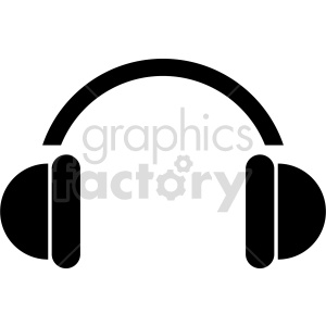 headphones vector icon graphic clipart 11 clipart. Commercial use image # 413617