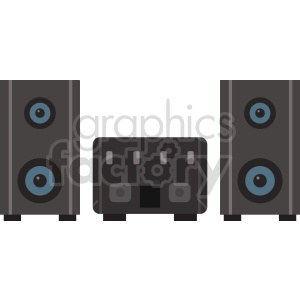 home stereo vector icon graphic clipart 1 clipart. Commercial use image # 413622