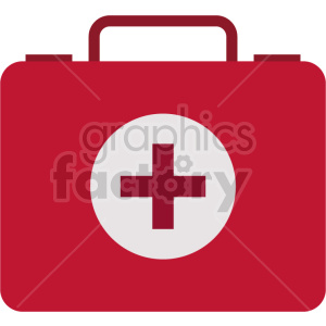 first aid medical case vector graphic clipart clipart. Commercial use image # 413786