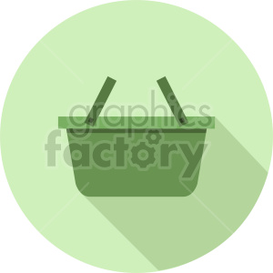basket vector icon graphic clipart 2
