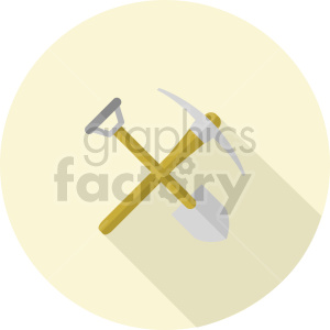 pickaxe shovel vector icon graphic clipart 1 clipart. Commercial use image # 413908
