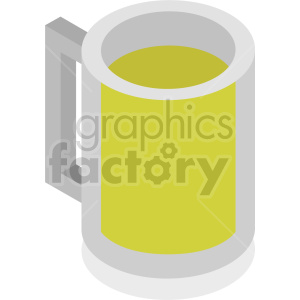 glass beer mug isometric vector clipart icon clipart. Commercial use image # 413947