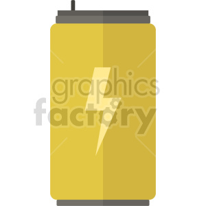 isometric energy drink vector icon clipart 5