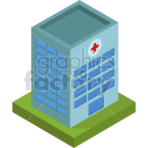 isometric hospital vector icon clipart