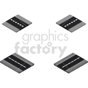 isometric road section vector icon clipart 1 clipart. Commercial use image # 414017
