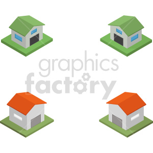 isometric garage vector icon clipart 3 clipart. Commercial use image # 414023