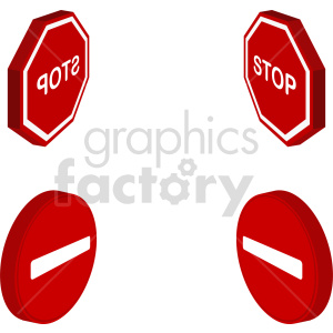 isometric sign vector icon clipart clipart. Commercial use image # 414026