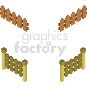 isometric fence vector icon clipart s3 clipart. Commercial use image # 414036