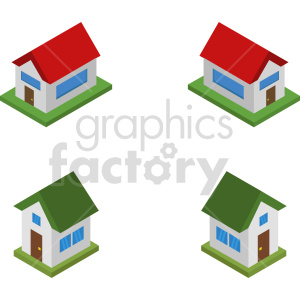 isometric house vector icon clipart 1 clipart. Commercial use image # 414040