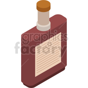 isometric syrup vector icon clipart 2 clipart. Royalty-free image # 414072