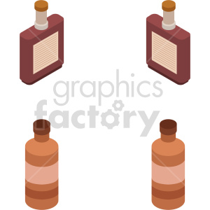 isometric syrup vector icon clipart bundle clipart. Commercial use image # 414077