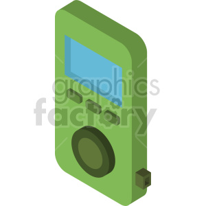 isometric mp3 player vector icon clipart 5 clipart. Commercial use image # 414127