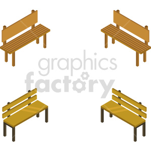 isometric bench vector icon clipart 3 clipart. Commercial use image # 414167