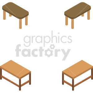 isometric wooden table vector icon clipart 1 clipart. Commercial use image # 414170