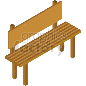 isometric bench vector icon clipart 4 clipart. Commercial use image # 414178