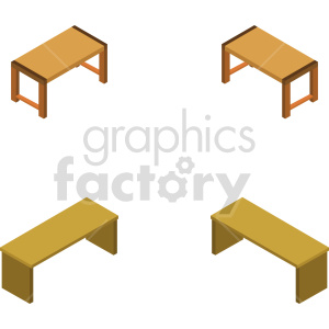 isometric dining table vector icon clipart 1 clipart. Commercial use image # 414180