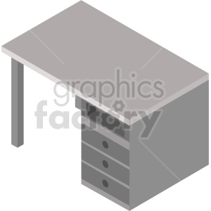 isometric desk vector icon clipart 4 clipart. Commercial use image # 414198