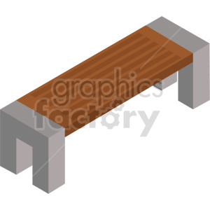 isometric bench vector icon clipart 5 clipart. Commercial use image # 414200
