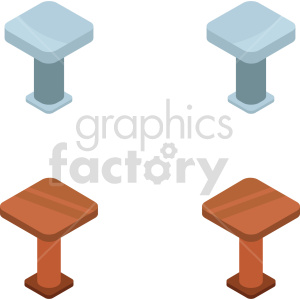 isometric kitchen table vector icon clipart 2 clipart. Commercial use image # 414203
