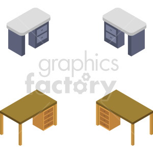 isometric desk vector icon clipart 2 clipart. Commercial use image # 414214