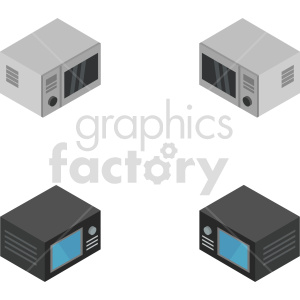 isometric microwave oven vector icon clipart 1 clipart. Commercial use image # 414229