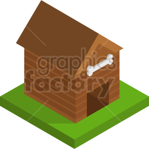 isometric dog house vector icon clipart 2 clipart. Commercial use image # 414234