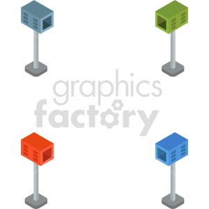 clipart - isometric mail box vector icon clipart 2.