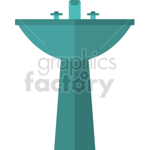 isometric sink vector icon clipart 2