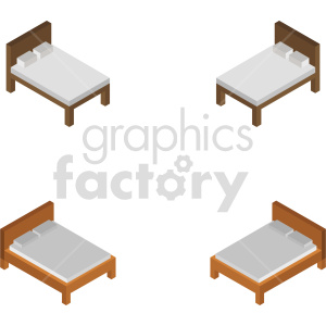 isometric bed vector icon clipart 1 clipart. Commercial use image # 414298