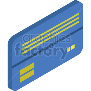 isometric credit card vector icon clipart 5 clipart. Commercial use image # 414369
