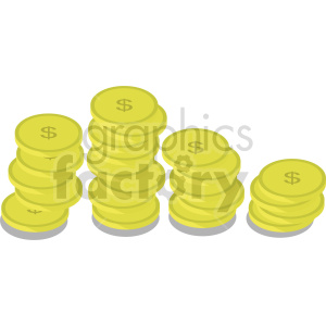 gold coins vector icon clipart 2 clipart. Commercial use image # 414378
