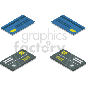isometric credit card vector icon clipart 10 clipart. Commercial use image # 414382