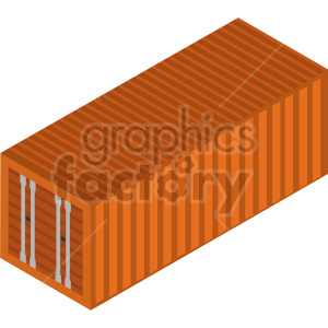 isometric storage container  vector icon clipart 3 clipart. Commercial use image # 414395