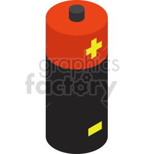 isometric battery vector icon clipart  2 clipart. Commercial use image # 414417