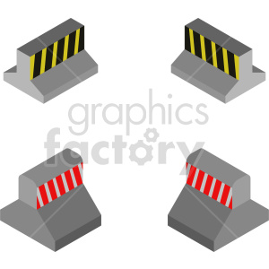 isometric road barrier vector icon clipart 1 clipart. Commercial use image # 414471