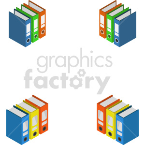 isometric data floppy disk books vector icon clipart 2 clipart. Commercial use image # 414541