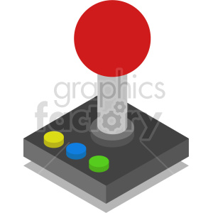 isometric joystick vector icon clipart 2 clipart. Commercial use image # 414547