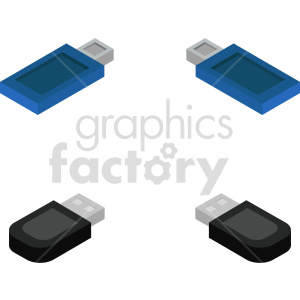 isometric usb vector icon clipart bundle clipart. Commercial use image # 414552