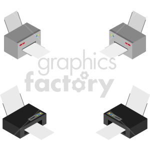 isometric printer vector icon clipart 1 clipart. Commercial use image # 414553