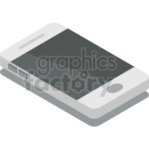 isometric smart phone vector icon clipart 1 clipart. Commercial use image # 414567