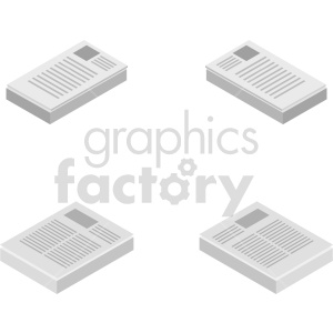 isometric document vector icon clipart 6 clipart. Commercial use image # 414577