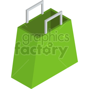 isometric shopping bag vector icon clipart 7 clipart. Commercial use image # 414580